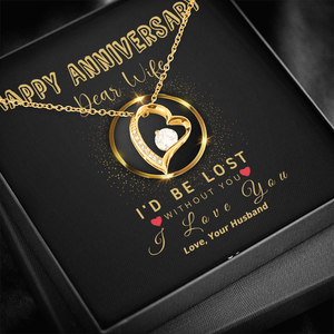 🥂 To My Wife - Happy Anniversary Forever Love Necklace With
