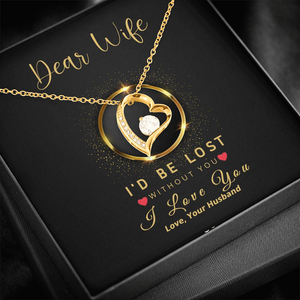 💎 To My Wife Forever Love Necklace With