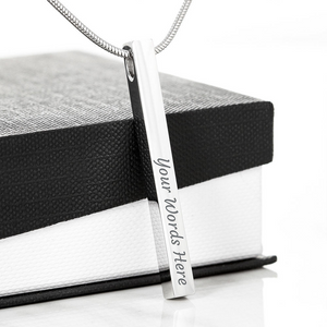 💎 To My Best Friend - Vertical Stick Engraving Necklace With