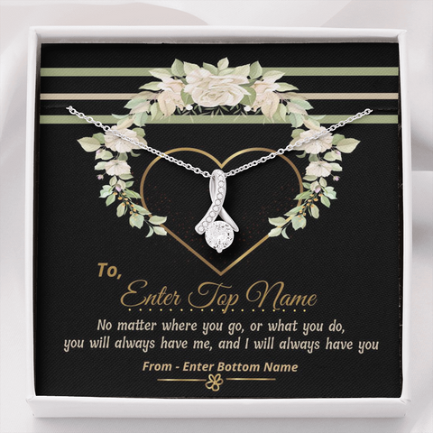 "💎 Alluring Beauty Necklace With Personalized Message Card ""No Matter Where You Go"""