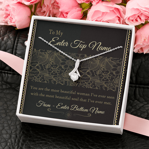 "💎 Alluring Beauty Necklace With Personalized Message Card ""Most Beautiful Soul"""