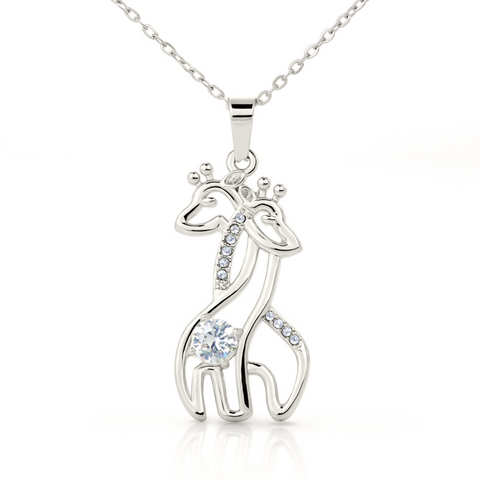 "Image of 💎 To My Daughter Graceful Love Giraffe 🦒 Necklace With ""Always Remember You're Braver"" Message Card"
