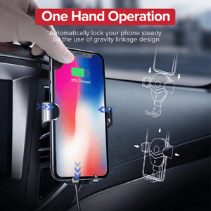 2 in 1 Fast Charging Wireless Car Phone Charger And Holder Mount at 50% Off Sale (iphones & android phones compatible)
