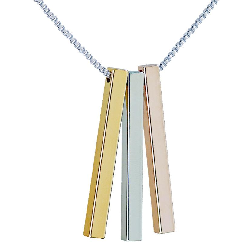 Engraved Bar Necklace | Stainless Steel Custom Name Necklace | Engraved Necklace - Jewelry & Watches / Fashion Jewelry / Necklace & Pendants