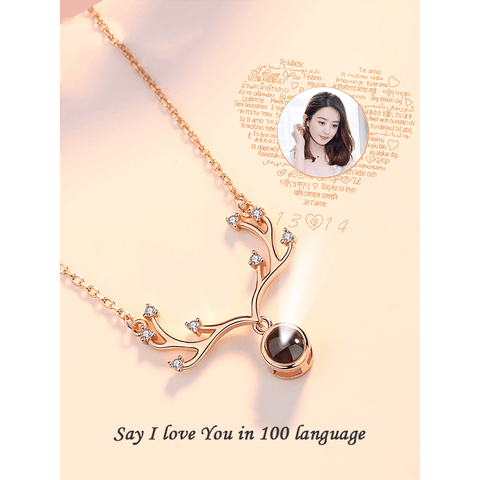 "Image of Special Customized Necklace With ""I Love You"" Message In 100 Languages - Jewelry & Watches / Fashion Jewelry / Earrings"