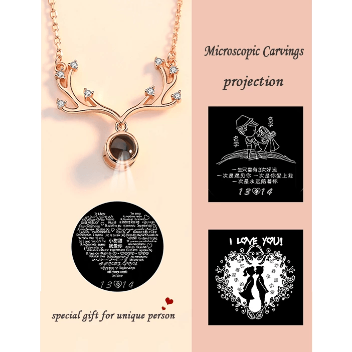 "Special Customized Necklace With ""I Love You"" Message In 100 Languages - Jewelry & Watches / Fashion Jewelry / Earrings"