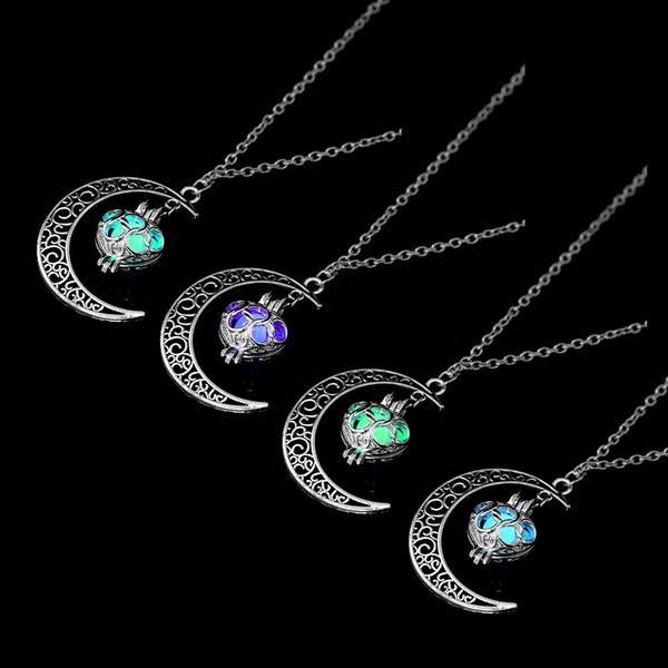 Glowing Moon Necklace Glow In The Dark Pendant - Jewelry & Watches / Fashion Jewelry / Charms