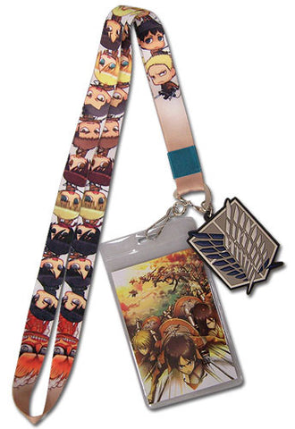 Attack On Titan Group Lanyard