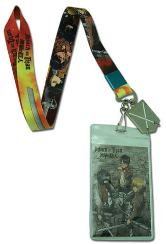 Attack On Titan Group With Sword Lanyard