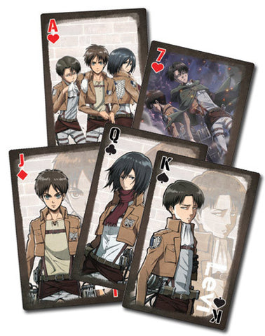 Attack On Titan Brown Playing Cards