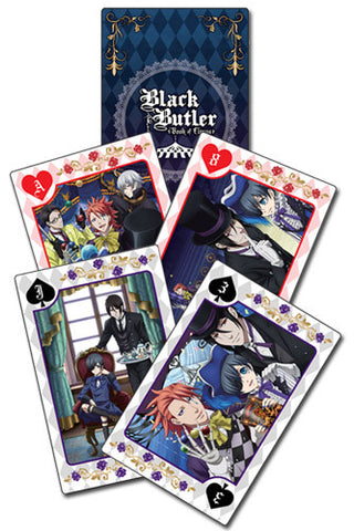 Black Butler Book Of Circus Group Playing Cards