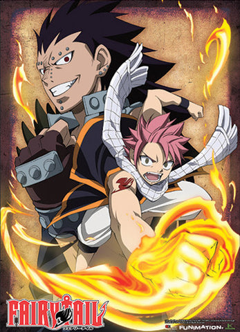Fairy Tail Natsu and Gajeel Wall Scroll 60087