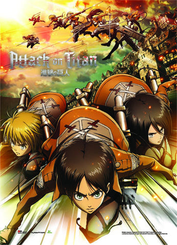 Attack On Titan Regiment Attack Wall Scroll 60367