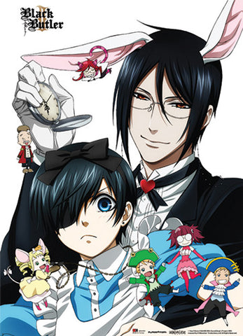 Black Butler 2 Bunny Sebastian and Ciel Wall Scroll 60469