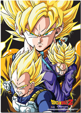 Dragon Ball Z Crew Fabric Poster 77516