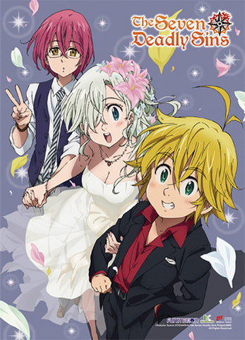 The Seven Deadly Sins Wedding Style Wall Scroll 86666