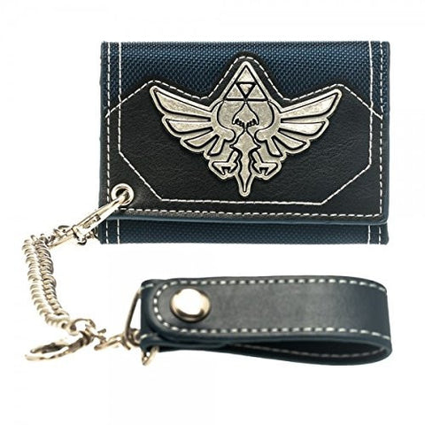 Zelda Blue Canvas Chain Wallet