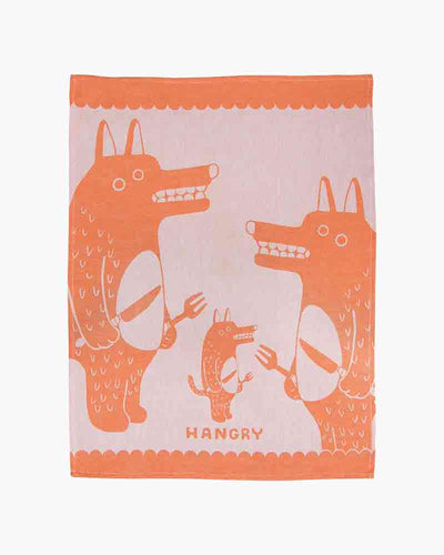 Hangry Dish Towel Orange