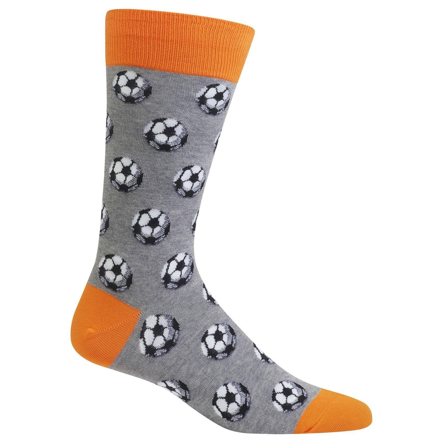 Soccer Ball Socks - Crew Socks for Men