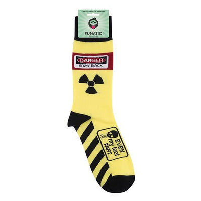 Danger Stand Back! Even My Feet Fart Unisex Crew Socks