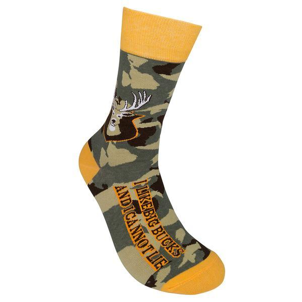 I Like Big Bucks and I Cannot Lie Unisex Crew Socks