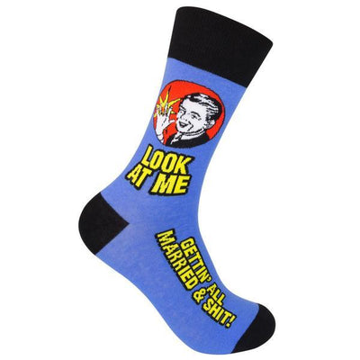 Look at Me Gettin' All Married Crew Socks