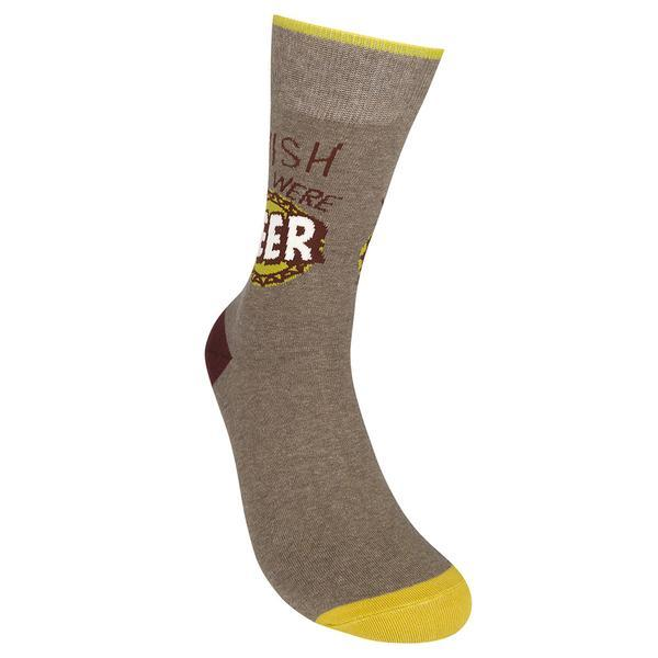 Wish You Were Beer - Unisex Crew Socks