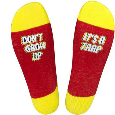 Don't Grow Up. It's a Trap Crew Socks