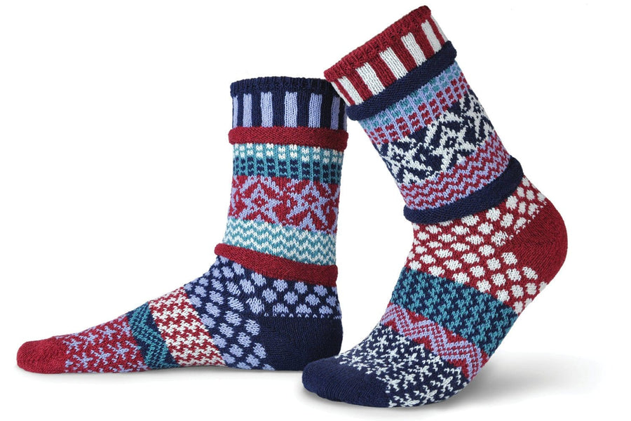 Stars and Stripes Cotton Crew Socks