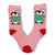 Penguin Socks Fuzzy Christmas Women's Sock Red