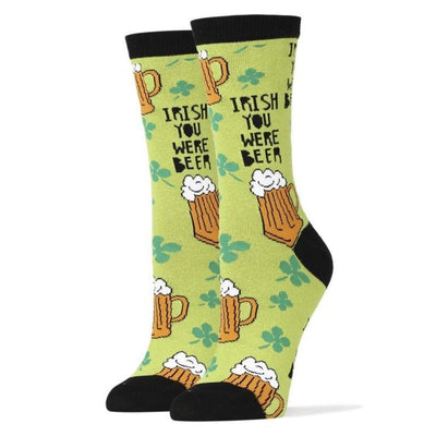 Irish Beer Socks -- Crew Socks for Men