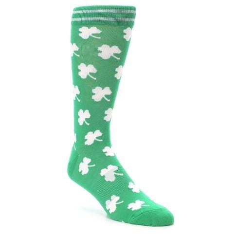 White Shamrock Socks