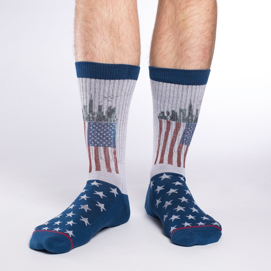 American Flag Active Fit Crew Socks for Men