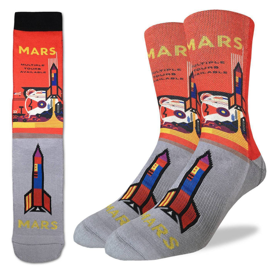 Mars or Bust Socks Women's Active Fit Crew Sock