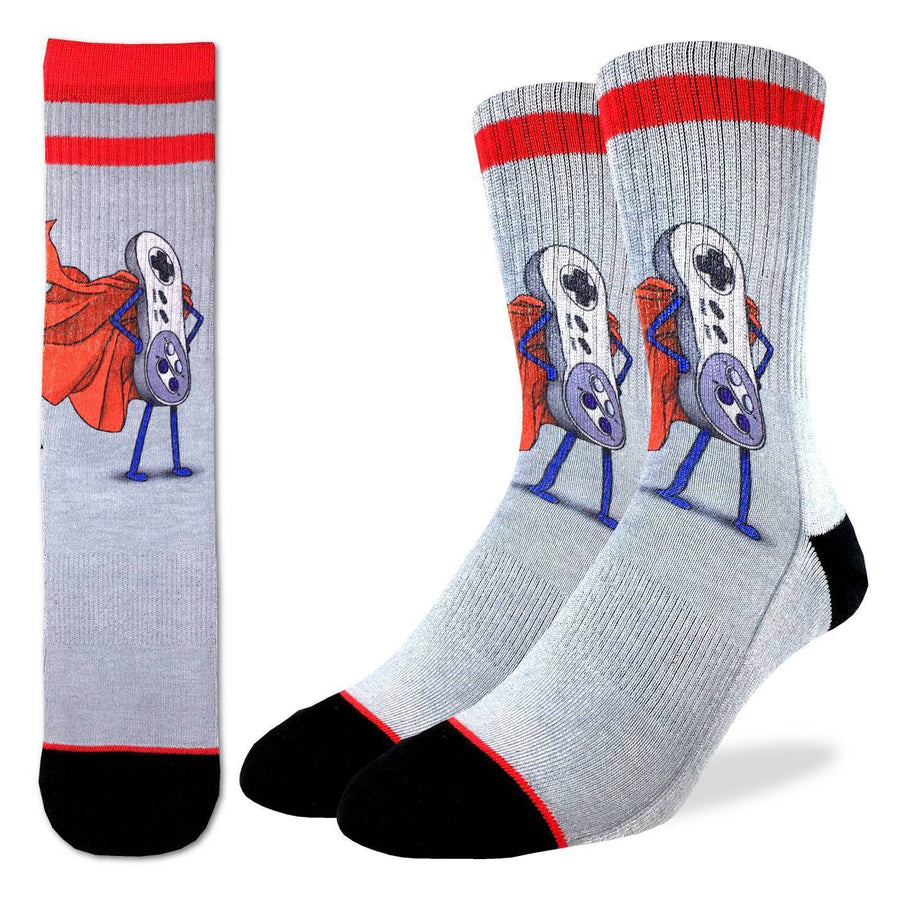 SUPER NES ACTIVE FIT CREW SOCKS FOR MEN