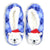 Polar Bear Christmas Sherpa Slipper Blue / S