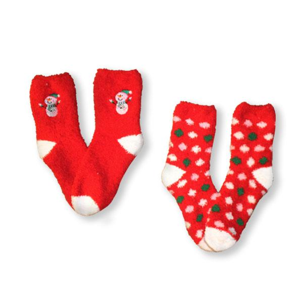 Fuzzy Snowman Women's 2 Pack Socks