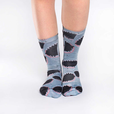 Shark Attack Socks Active Fit Crew for Women