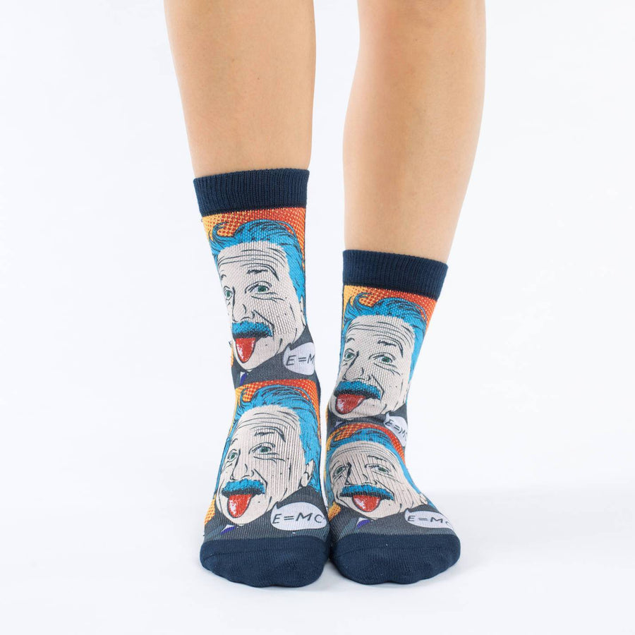 Albert Einstein Pop Art Socks for Women