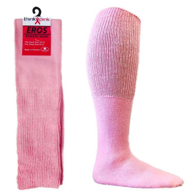 Pink Football Tube Socks for Breast-Cancer Awareness Child / Pink