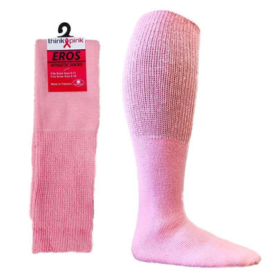 Pink Football Tube Socks for Breast-Cancer Awareness Women / Pink