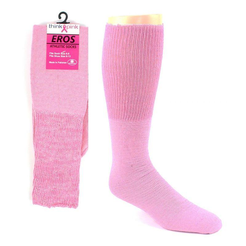 Pink Football Tube Socks for Breast-Cancer Awareness Men / Pink