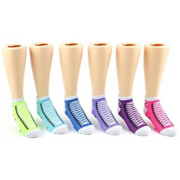 Sneaker Crew Socks for Toddlers Ages 1-3 - 3-Pack