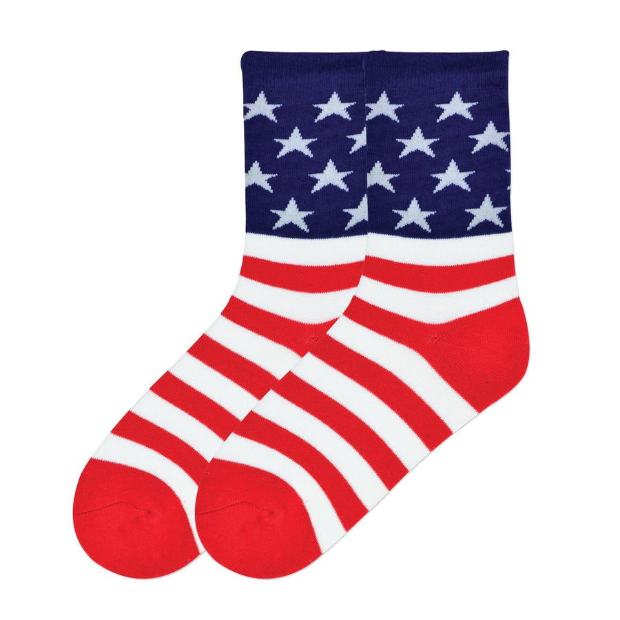 American Flag Socks - Crew Socks for Women