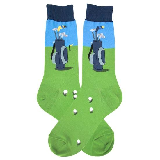 Golf Bag Socks Men's Crew Sock Green