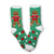 Gingerbread Man Socks Fuzzy Applique Christmas Women's Sock