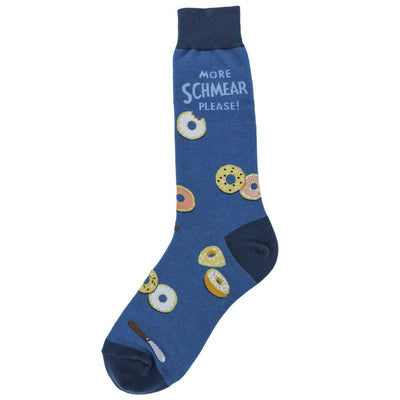 Bagel Schmear Sock Men's Sock Blue