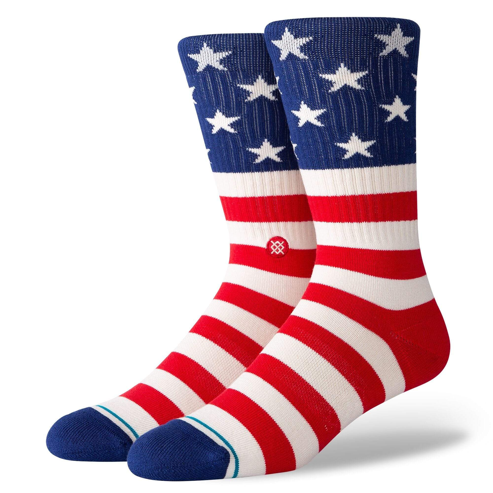 The Fourth St Men's Crew Sock Red White and Blue