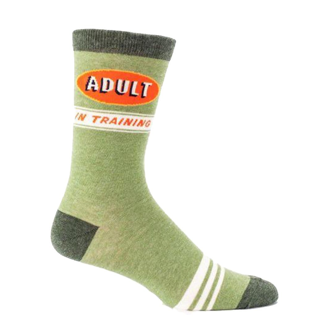 Adult In Training Socks Men's Crew Sock green