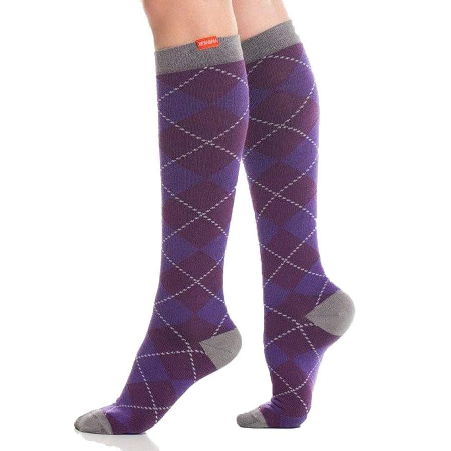 All Over Argyle Compression Socks